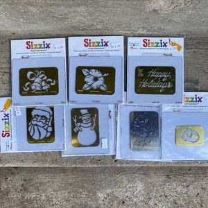 7 SIZZIX Embossing Folders Scrapbooking